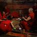 Tibetan monks designig traditional colorful mandala at Tiksey Gompa Ladakh by magbrinik