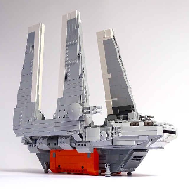 Improved LEGO version of Imperial Cargo Shuttle SW 0608