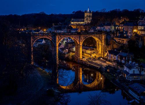 viaduct river nidd knaresborough night lowlight bluehour