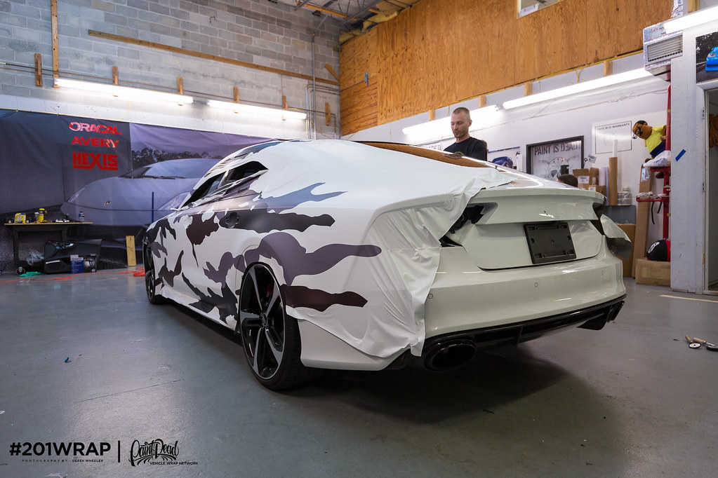 Audi Rs7 Custom Camo 201wrap Paintisdead Identity Design Flickr