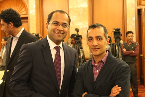 Dr. Bharath Gopalaswamy, Acting Director, South Asia Center with Dr. Gaurav Kampani, Fellow, South Asia Center