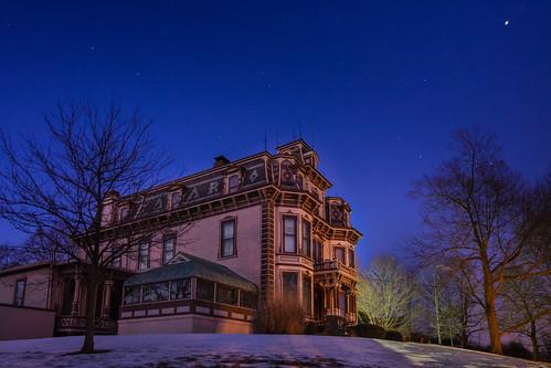 night stars indiana richmond mansion secondempire waynecounty gaar nationalregisterofhistoricplaces photobyjane abramgaar holmanphotoscom gaarhouse holmanphotography