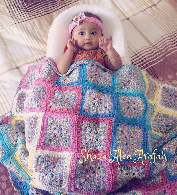 Crochet Granny Square Baby Blanket, Crochet Granny Square Baby Blanket, Jurnal Suzannita