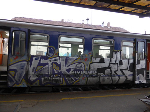 Zagreb train graffiti | by duncan