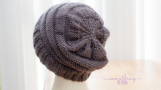 Gray Knit Beanie | by somethingbyvera