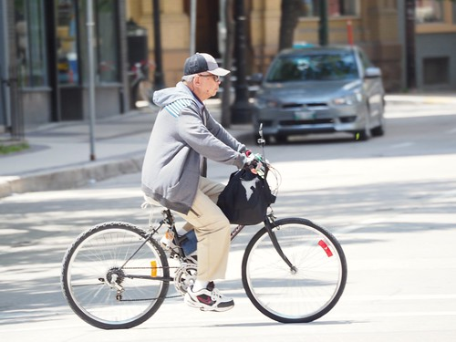 Elderly person cycling | by Dave Shaver