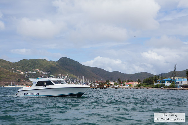 Taking the ferry from St. Maarten to Anguilla