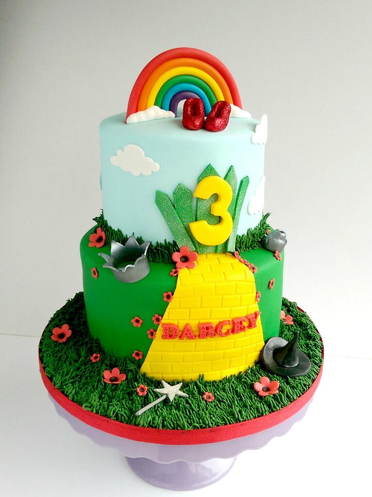 Super Wizard Of Oz Birthday Cake Swirlsbakery Flickr Birthday Cards Printable Riciscafe Filternl