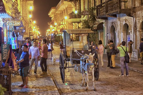 Calle Crisologo at night, Vigan, Philippines - One of The New 7 Wonder Cities of The World | by Ray in Manila