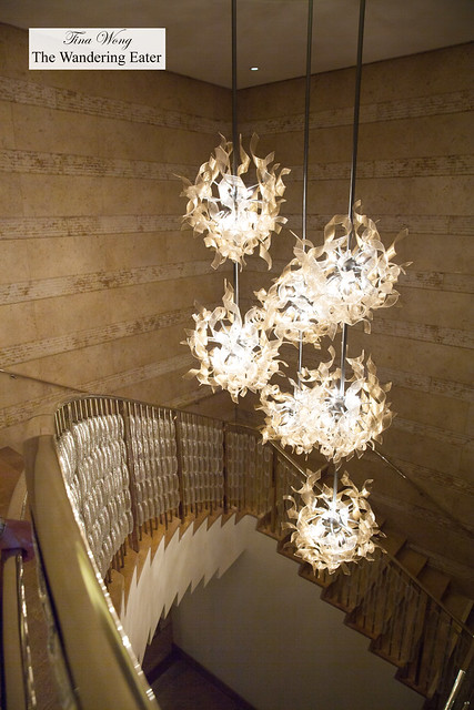 Chandeliers at the grand staircase