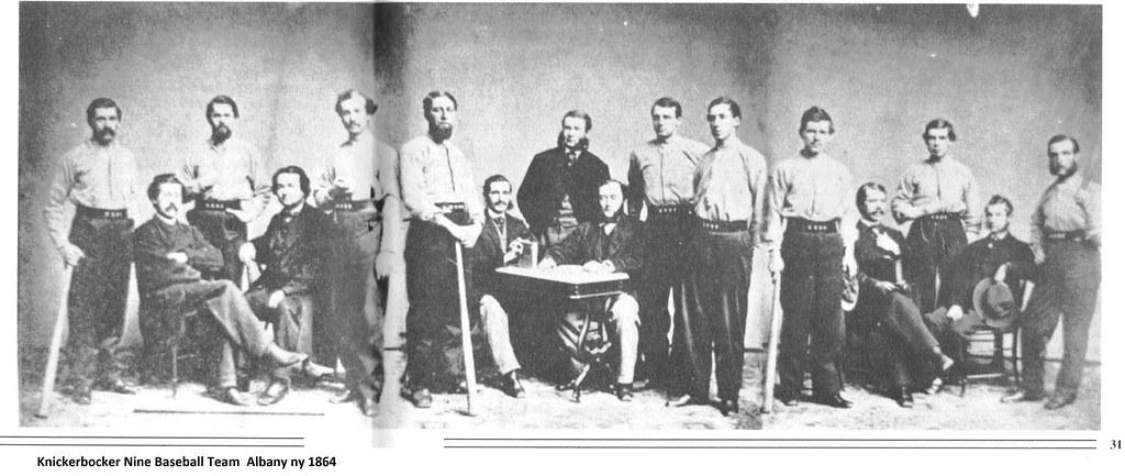 c87db1cca645 ... Knickerbocker Nine baseball team albany ny 1864