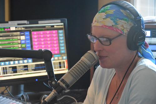 Suzanne Corley on air. Photo by Kichea S Burt