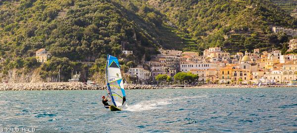 The coast outside Salerno, Italy