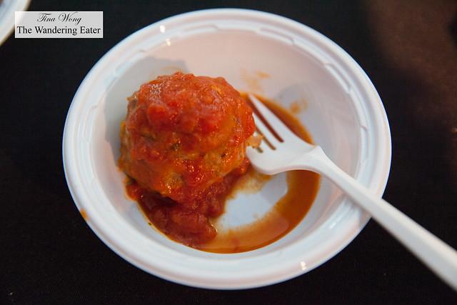 Jambalaya meatballs with tomato sauce by The Meatball Shop