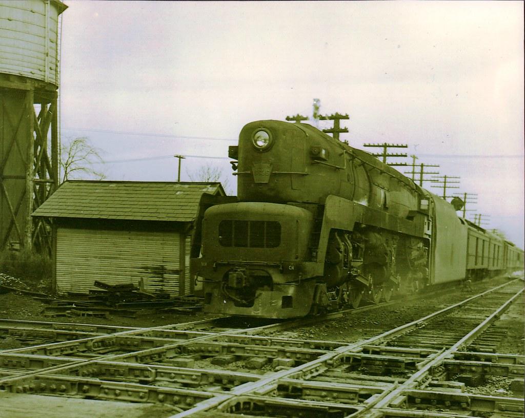 Pennsylvania Railroad T-1 4-4-4-4 # 5585 w/b at NS Crossin
