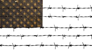 us flag barbed wire | by democracychronicles