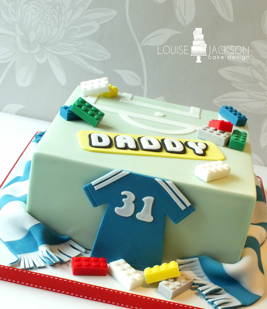 Fine Chelsea And Lego Themed Birthday Cake Made For Chelsea Fan Flickr Funny Birthday Cards Online Fluifree Goldxyz