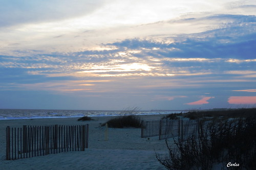 ocean sunset sea sky sun seascape beach water backlight clouds sunrise outdoors sand northcarolina atlantic