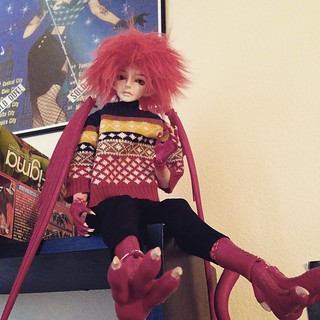 Hello from Fintan! I haven't taken a pic of him in awhile so here's one in the sweater @elvenarcher309 got him. :)  #balljointeddoll #bjd #resinsoul #resinsoulsui #rssui #originalcharacter #oc | by GraviTiger