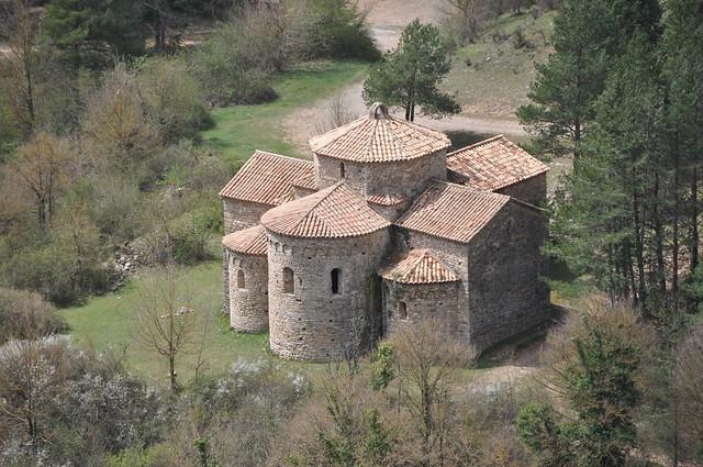 Navès. Sant Pere de Graudescales monastery. 11th C. Partly rebuilt 1956-61.