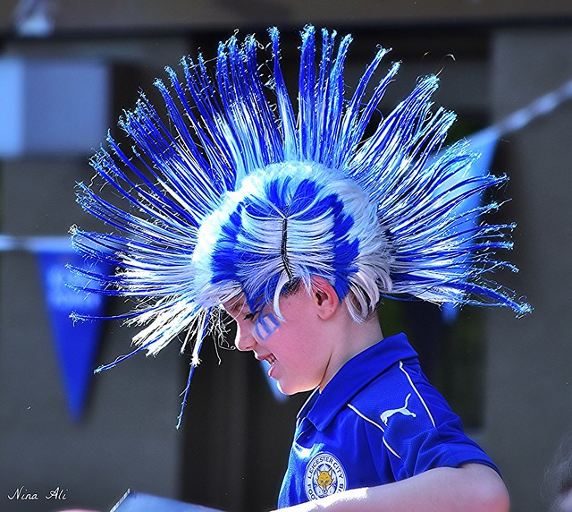 Funky mohican!  Leicester City Parade - 16 May 2016