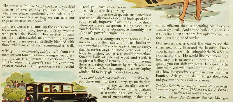 CM053 1930 Pontiac Big Six Ad Framed DSC04155 crop