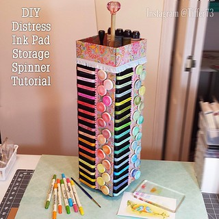 Distress Ink Storage Spinner Tutorial - DIY