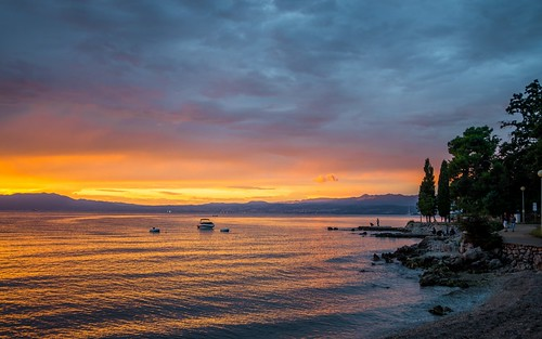 sunset summer islands nocturnal croatia adriatic adriaticsea njivice tamron1735284 krkisland islandkrk nikond600