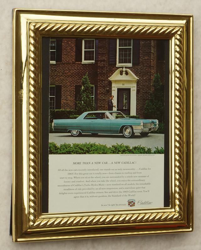 CM057 1965 Cadillac Car Ad Framed DSC04400