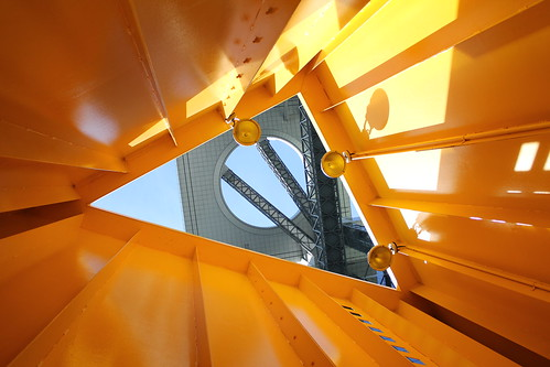 Umeda Sky Building seen from underneath (Osaka, Japan) - Yellow | by Carlos ZGZ
