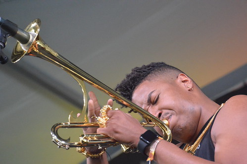 Christian Scott Atunde Adjuah presents Stretch Music at Jazz Fest 2016. Photo by Kichea S Burt.