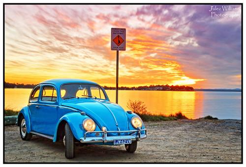 sunset vw volkswagen waterfront outdoor australia hightide