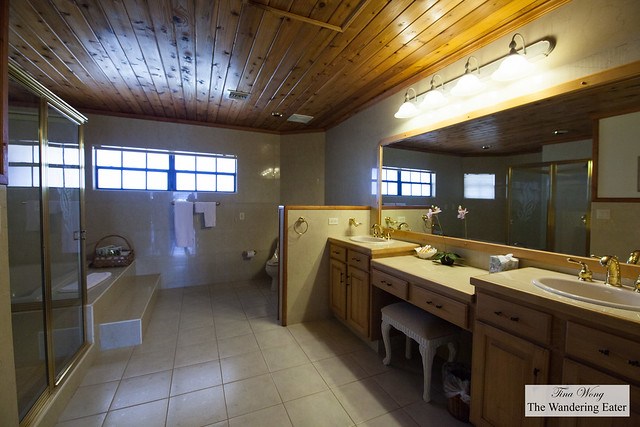 Large bathroom at my Penthouse Suite at Paradise Cove