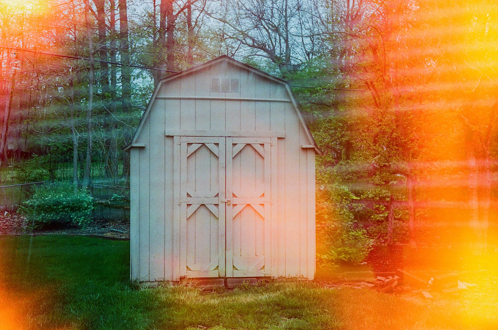 Shed with a light leak