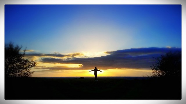 Sunset on a The Hill of Tara
