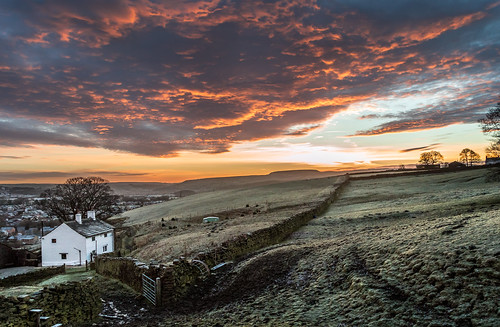 uk morning winter red england sky farmhouse sunrise landscape dawn golden early nikon mood moody northwest britain farm cottage dramatic lancashire redsky dslr drama goldenhour rossendale helmshore haslingden d3200 musbury
