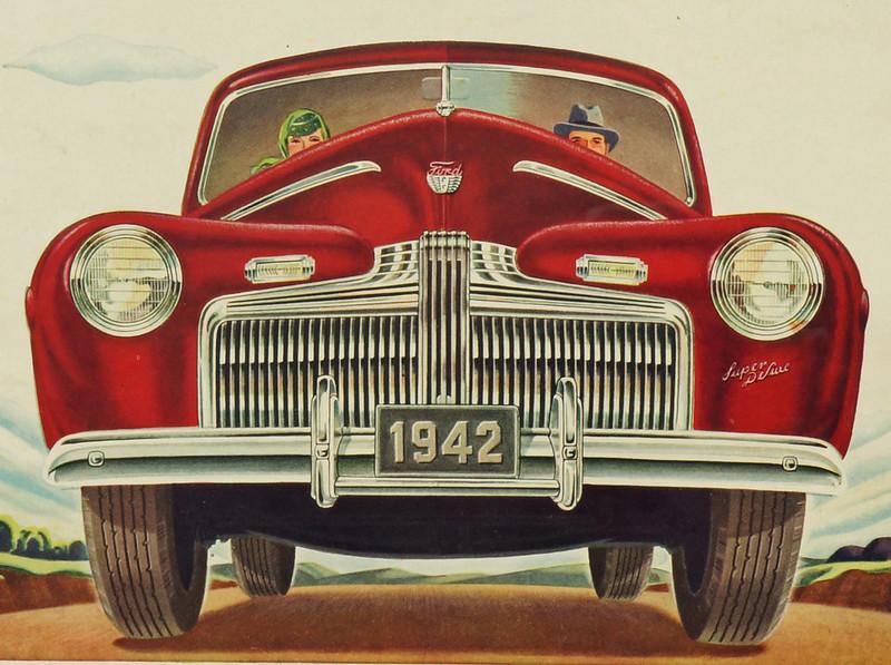 CM030 1942 Ford Car Ad Framed DSC04164 crop