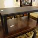 Dark wood rectangular coffee table