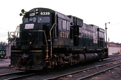 chicago pc illinois trains railroads alco penncentral c636