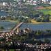 6207_a Blick vom Bachtel ( ZH) zum Schloss Rapperswil mit Seedamm Schweiz.