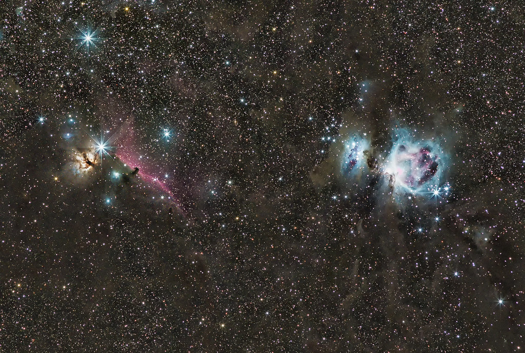 Orion: from the Flame to the Horse to the Running Man to M42