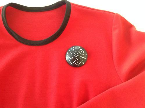 Red wool top - closeup   by saashka