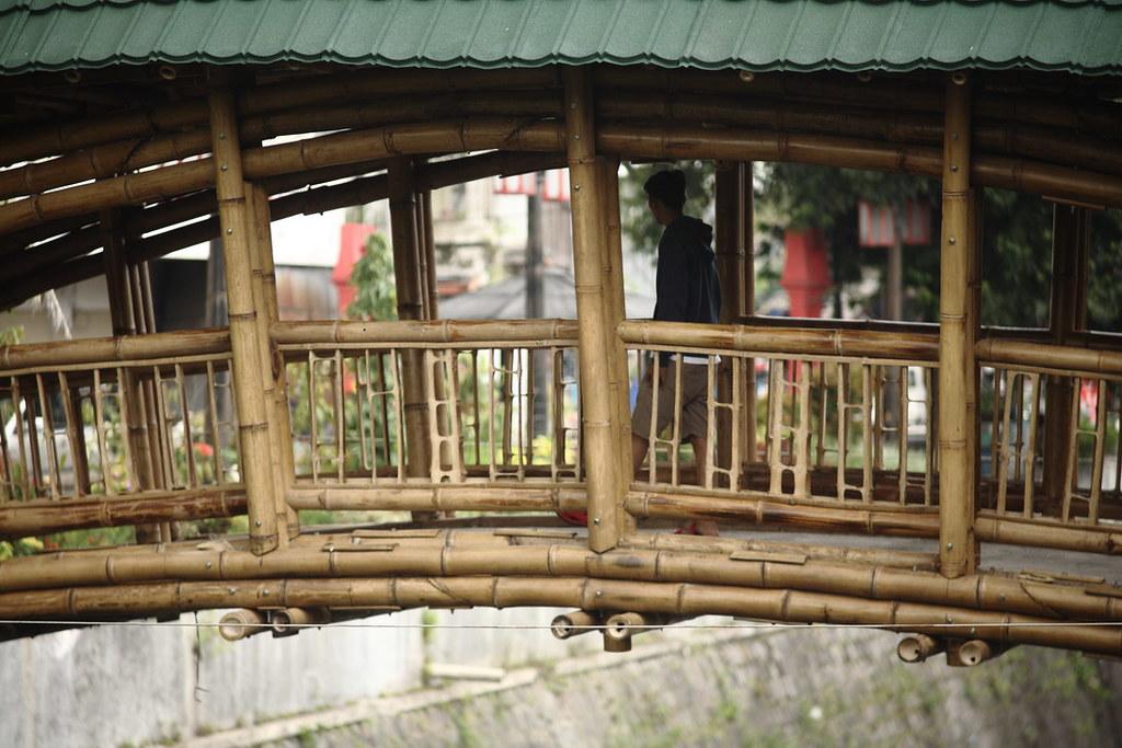 Bamboo bridge in Solo