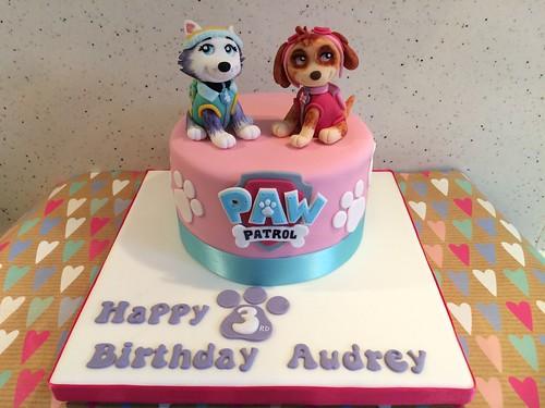 Girly Paw Patrol Birthday Cake Skye & Everest