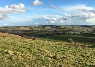 The Meon Valley, with Old Winchester Hill behind Winchester to West Meon walk