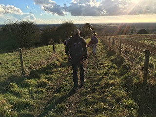 Descent from Beacon Hill Winchester to West Meon walk