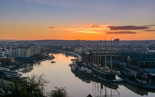 ferry sunrise bristol cityscape ships ssgreatbritain floatingharbour