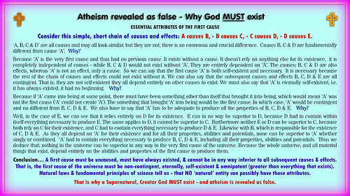 Atheism revealed as false - why god must exist.