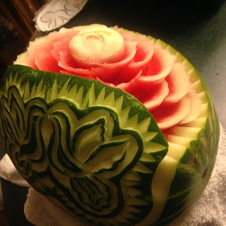 Wedding watermelon carving for a fruit display