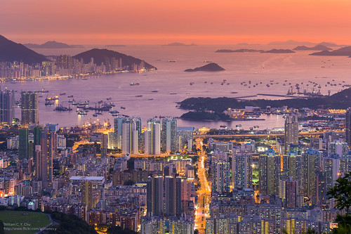 sunset hongkong cityscape dusk kowloon beaconhill lionrock westkowloon shekkipmei shamshuipo stonecuttersisland